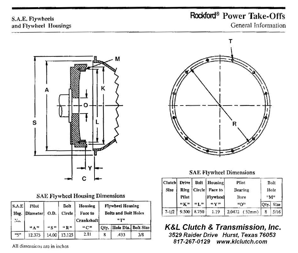 Rockford Power Take Off Clutch : Rockford powertrain  k l clutch and transmission