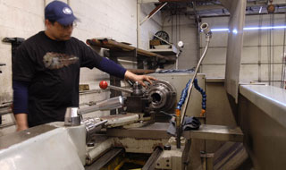 Machining parts for replacement shafts and clutches